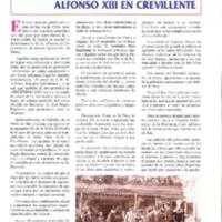 Alfonso XIII en Crevillente