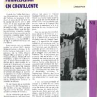 Devoción y tradición franciscana en Crevillent