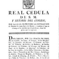 Real cédula de SM y los señores del consejo por la cual se prohibe la extracción del esparto