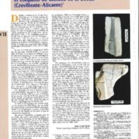 Aportaciones al conocimiento de la metalurgia del bronce final en el sureste peninsular: el conjunto de moldes de El Bosch (Crevillente-Alicante)