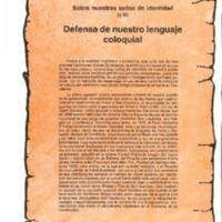 Defensa de nuestro lenguaje coloquial