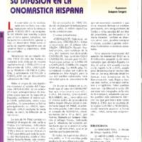 El sufijo EN . Su difusión en la onomástica hispana