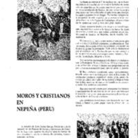 Moros y cristianos en Nepeña (Perú)